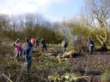 Volunteers at Broomscot Common in February