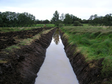The newly re-profiled ditch in 2004